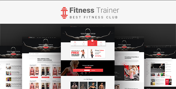 Fitness Trainer-PSD Template