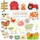 Farm Elements Collection - GraphicRiver Item for Sale