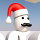 Christmas-Santa Cap-Mustache - 3DOcean Item for Sale