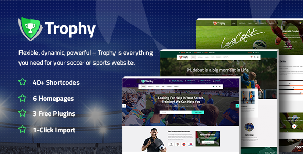 Trophy - Soccer and Football Club Theme