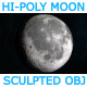 The Moon - High Poly Sculpted Model - 3DOcean Item for Sale