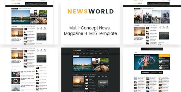 Newsworld | Mutil-Concept Magazine HTML5 Template