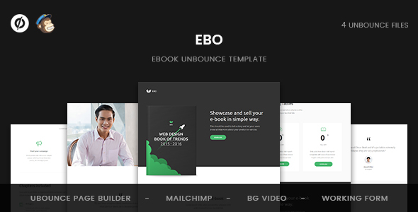 Ebo - Ebook Unbounce Template