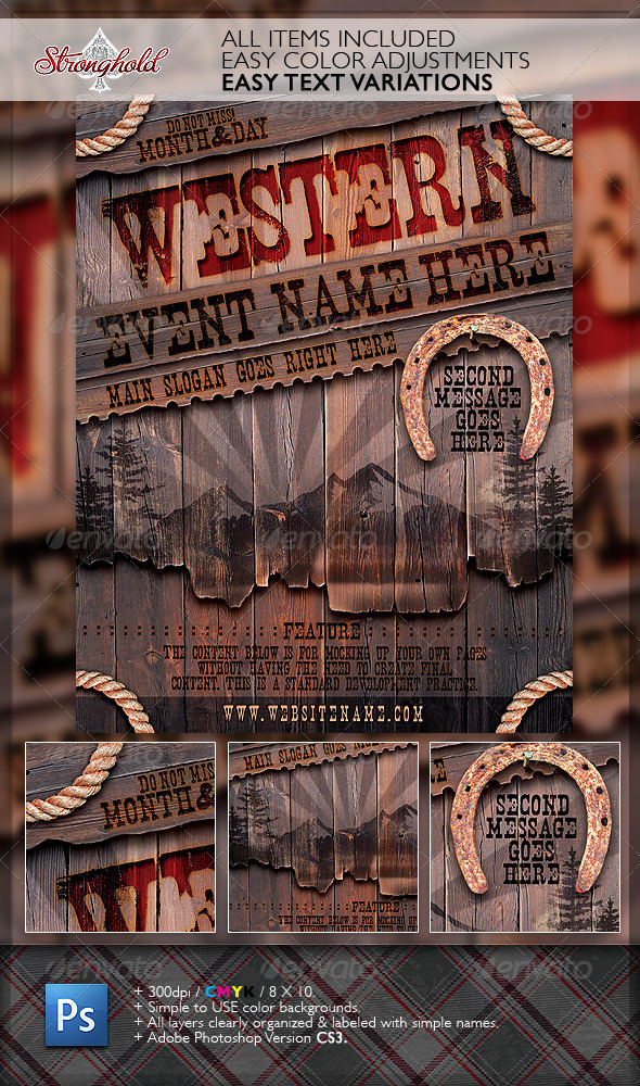 Western Font Graphics, Designs & Templates from GraphicRiver