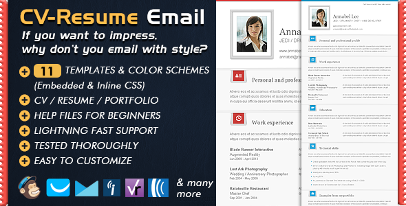 Newsletter Templates CV Folio - Email Resume