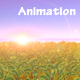 Meadow Field Animation at Sunset - ornamental Shrubs - VideoHive Item for Sale