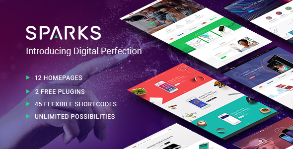 Sparks - App Development Theme