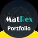 MatRex Creative Portfolio Template - ThemeForest Item for Sale