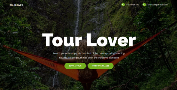 Tourlover - Travel agency landing page Template