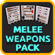 Low Poly Melee Weapons Pack - 3DOcean Item for Sale