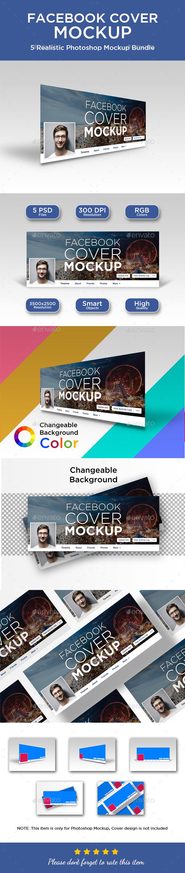 Facebook Cover Mockup Graphics, Designs & Templates