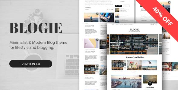 Blogie - Minimalist WordPress Blog theme