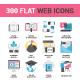 300 Flat Web Icons Bundle - GraphicRiver Item for Sale