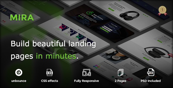 MIRA - Marketing Multipurpose Unbounce Landing Page