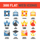 300 Flat Web Icons - GraphicRiver Item for Sale
