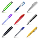 Different Pens Icons Vector Set - GraphicRiver Item for Sale