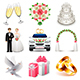 Wedding Icons Vector Set - GraphicRiver Item for Sale