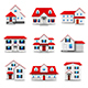 Houses Icons Vector Set - GraphicRiver Item for Sale