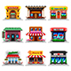 Cafe and Restaurants Icons Vector Set - GraphicRiver Item for Sale