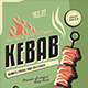Kebab Flyer Template - GraphicRiver Item for Sale