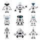 Robots Icons Vector Set - GraphicRiver Item for Sale