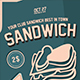Sandwich Flyer Template - GraphicRiver Item for Sale