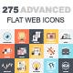 275 Advanced Flat Web Icons Bundle - GraphicRiver Item for Sale