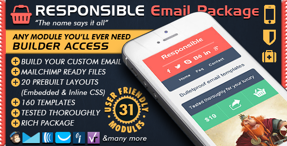 Responsive Email Builder - RESPONSIBLE - Mailchimp Editor Ready