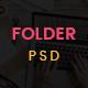 Folder -  Freelancer One Page Portfolio & Resume PSD Template - ThemeForest Item for Sale