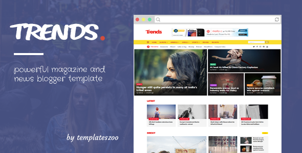 Trends - News/Magazine Responsive Blogger Template