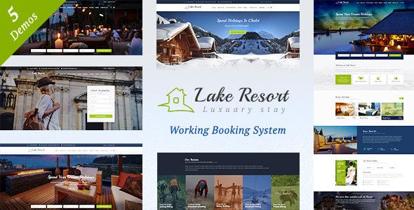 Lake Resort : Resort and Hotel WordPress Theme