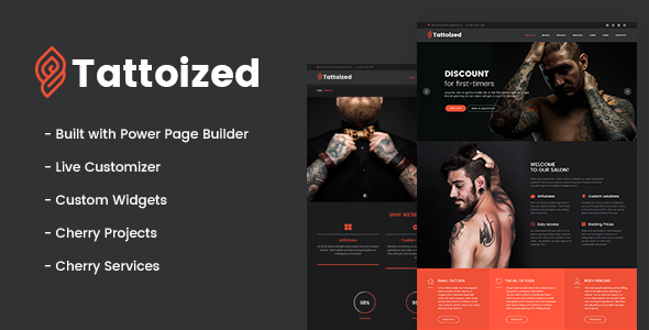Tattoized - Tattoo Salon WordPress Theme