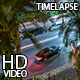 Night Street With Palm Trees 2 - VideoHive Item for Sale