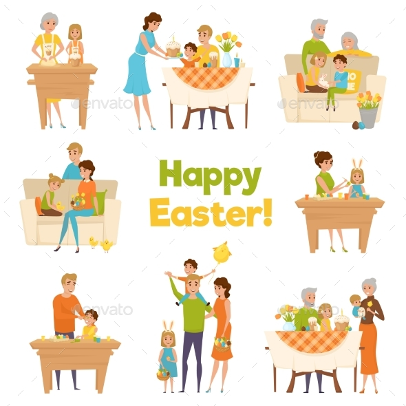 Happy Easter Family Set