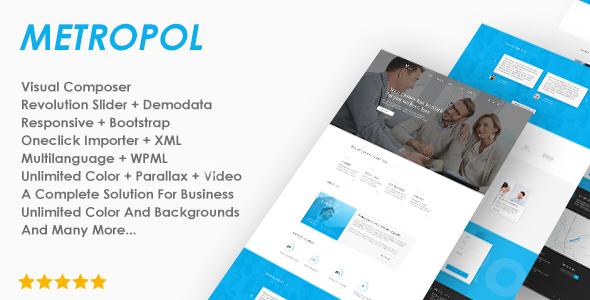 Small Business & Financial WordPress Theme - Metropol