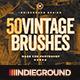 50 Vintage Brushes Set Vol. 3 - GraphicRiver Item for Sale