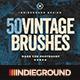 50 Vintage Brushes Set Vol. 2 - GraphicRiver Item for Sale