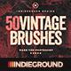50 Vintage Brushes Set - GraphicRiver Item for Sale