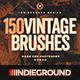 150 Vintage Brushes Bundle - GraphicRiver Item for Sale