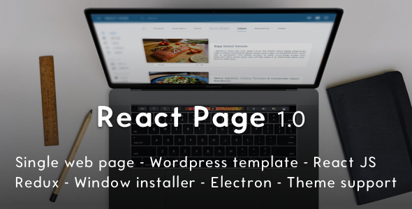 ReactPage - the Bootstrap Starter Kit for ReactJS and Wordpress