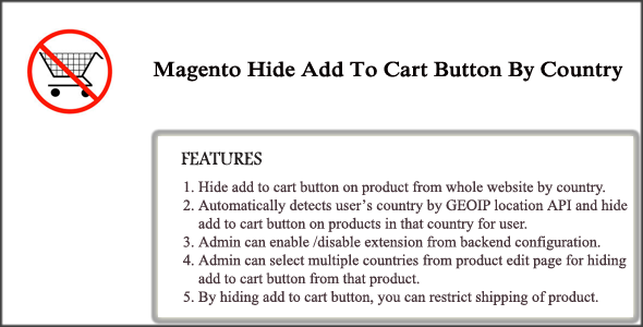 Magento Hide Add To Cart Button By Country