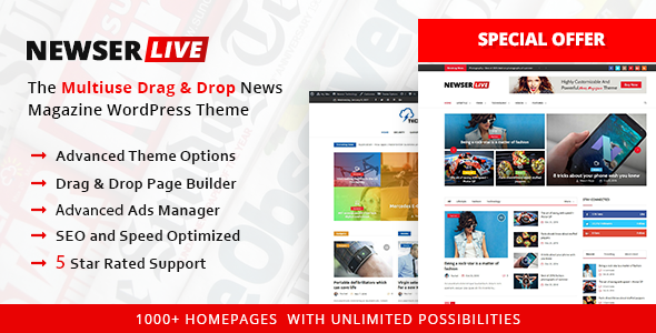 Newser - Newspaper & Magazine WordPress Theme