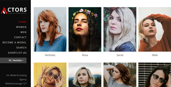 Actors - Model Agencies WordPress CMS Theme
