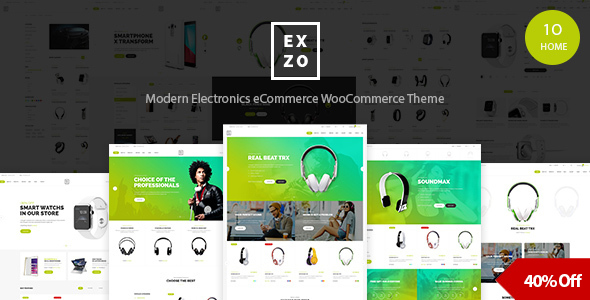 Electronics eCommerce WordPress Woocommerce Theme - Exzo