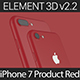 Element3D V2.2 iPhone 7 and 7 Plus Product Red - 3DOcean Item for Sale