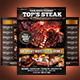 BBQ - Steak Menu Flyer Template - GraphicRiver Item for Sale