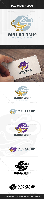 Magic Lamp Logo Template
