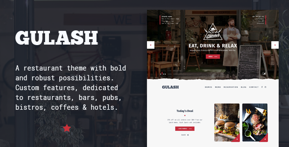 Gulash - delicious restaurant & coffee theme