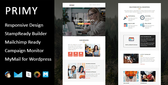 Primy - Multipurpose Responsive Email Template with Stampready Builder Access