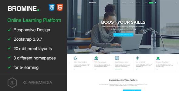Bromine - Online Learning Platform HTML5 Template